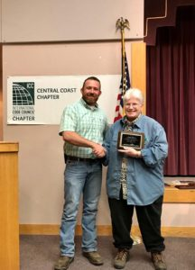 Marcia Walther – County of San Luis Obispo – receiving an award for loyal and dedicated service.